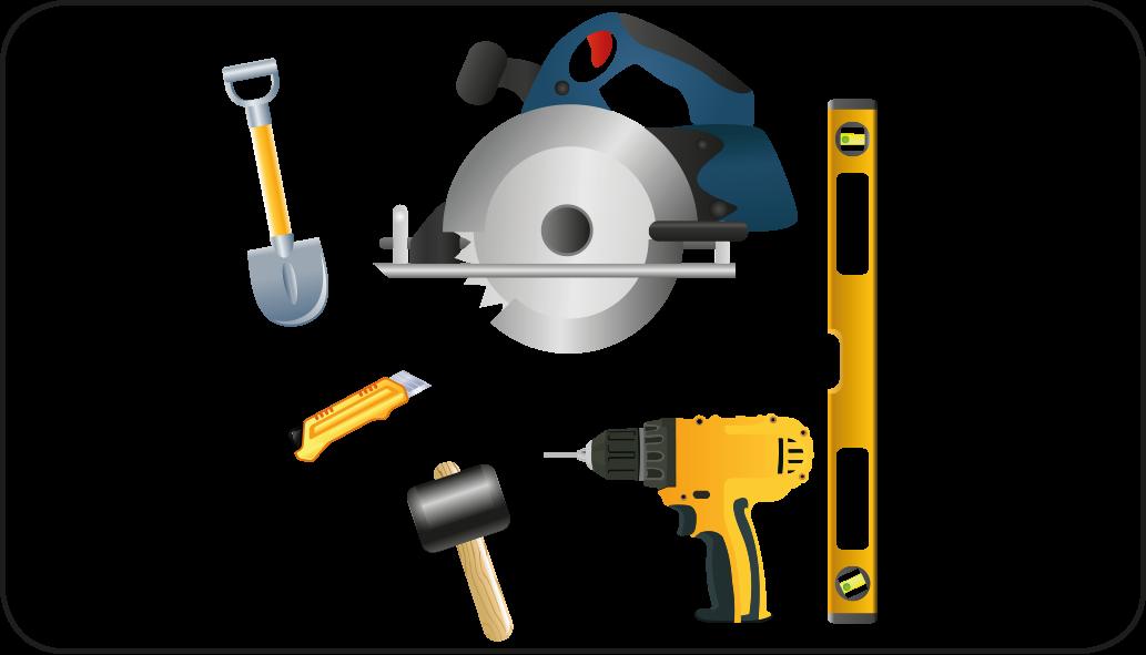 Werkzeuge - terrasse anlegen