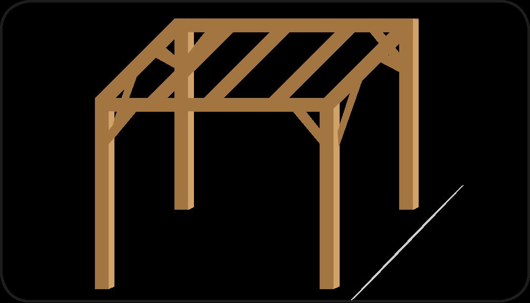 Dachbalken - mach eine Überdachung