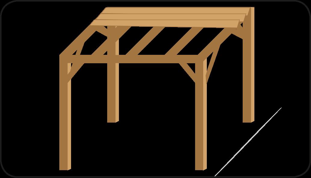 Dacheindeckung legen - mach eine Überdachung