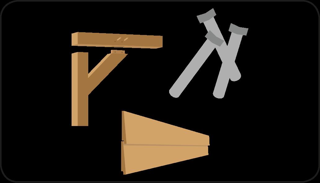 Teile - mach eine Überdachung