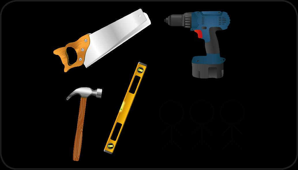 Werkzeuge - mach eine Überdachung