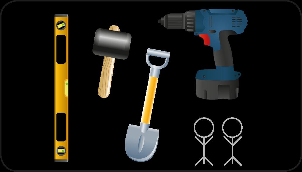 Werkzeuge - ein Gartenzaun machen