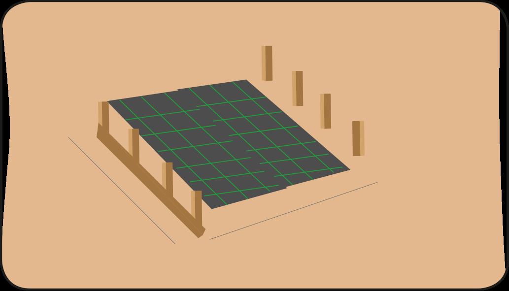 erster Boden - terrasse anlegen