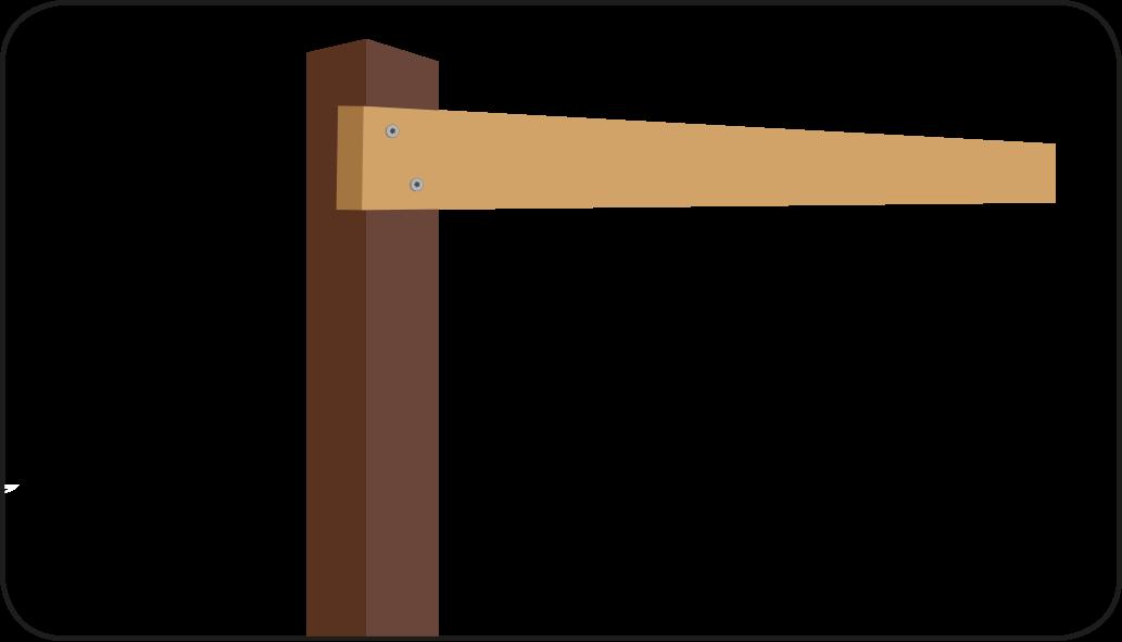 Abstand ausmessen - Holzzaun bauen